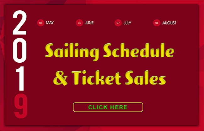 2019 Red Witch Wooden Tall Ship Sailing Schedule